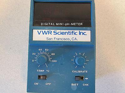 Scientific Digital Mini Ph Meter Vwr Scientific Inc