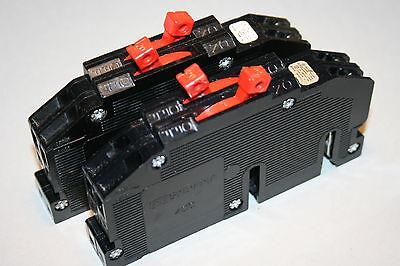 2 Zinsco 20 Amp Twin Breakers Type Rc-38 Tandem 120 Volt