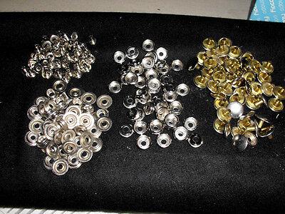 (0,32 €/Stück)  20 Stück Stabile Ringfeder Druckknöpfe Silber Durchmesser 15 mm