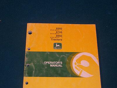 Original John Deere 8560 8760 8960 Tractor Operators Manual Very Nice