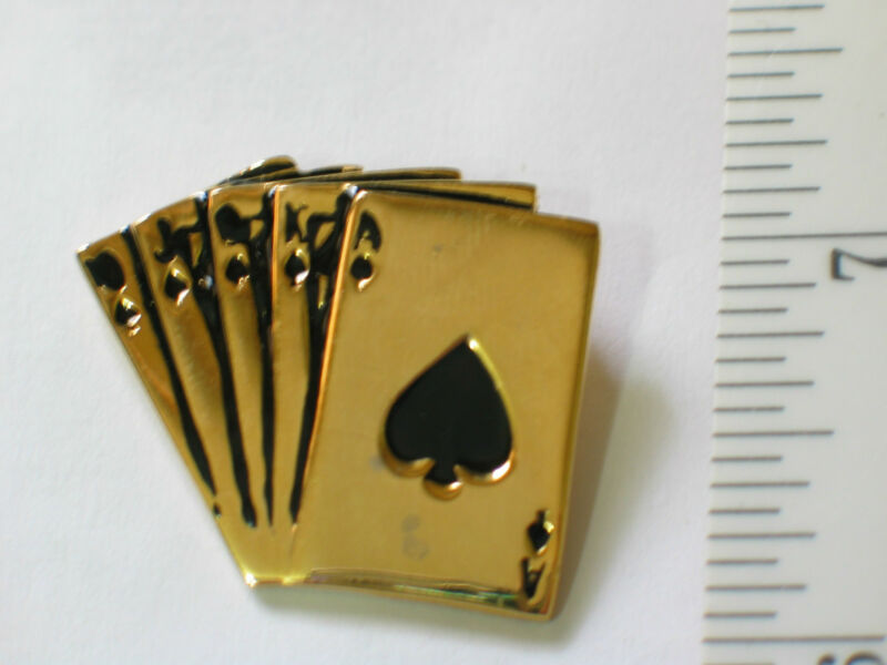 Royal Flush Poker Pin Beautiful Pin, Lapel Pin, Hat Tack