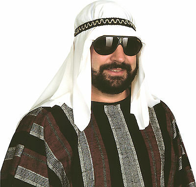 SHEIK COSTUME HEADPIECE DESERT PRINCE ARAB ARABIAN SULTAN HAT HEADPIECE - Desert Costume