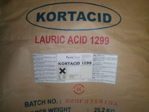 1 lb  LAURIC ACID  -  Kortacid 1299 -  Soaps  Candles  Stabilizers Detergents