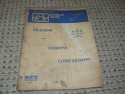 Oliver White Tractor Tractor Combine Comperison Manual From 1977