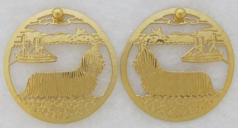 Skye Terrier Jewelry Skye Post Earrings