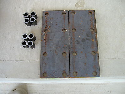 2 Farmall Mta 560 450 400 Ih Tractor 8 Hole Fender Spacer Plates 8 Risers