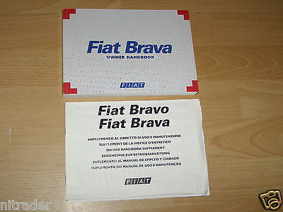 FIAT BRAVA OWNERS MANUAL HANDBOOK 1996 - 2001  FREE UK POSTAGE