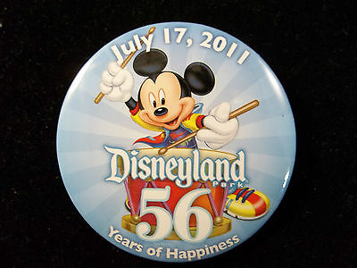 Disneyland Birthday Button (Disneyland 56th Birthday Button July 17, 2011 Cast Members Only Exclusive)