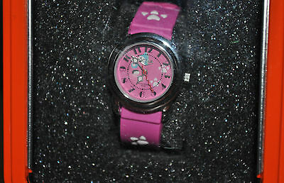 Watch for Kids/Juniors Hot Pink Dial Cartoon Character Design Rubber Watch, NIB
