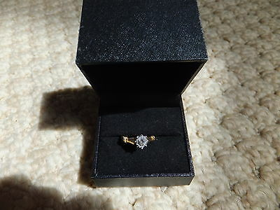 9ct yellow Gold 9k Solitaire Diamond 0.35ct Engagement ring size N