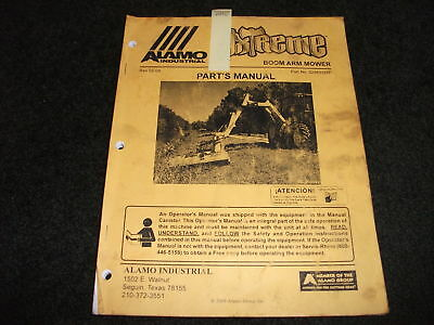 Alamo Axtreme Boom Arm Mower Parts Manual