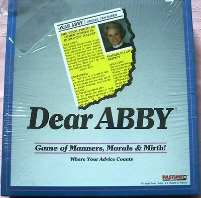 Dear Abby Board Game  1992  Pastime  Factory Sealed