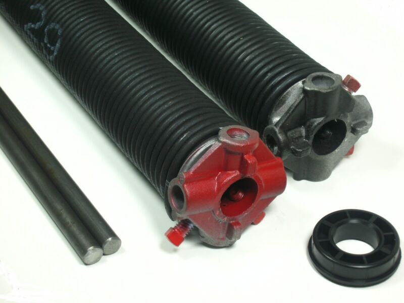 """Garage Door Torsion Springs PAIR .250 x 2"""" ID x Select Length - With Options"""