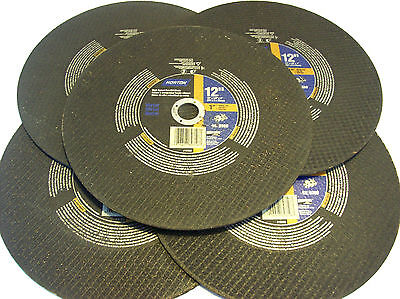 5 Norton 12 Chop Saw Metal Cut Off Wheel Blade 89356 Grinding Gas Powered Miter