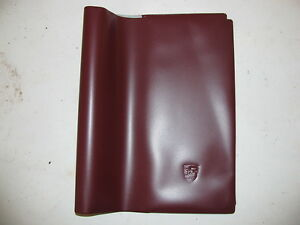 Porsche 356 911 912 914 944 928 owners manual cover new 13.75