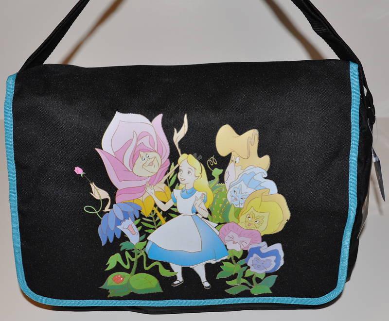 ALICE IN WONDERLAND MESSENGER BAG SHOULDER BAG TOTE BACKPACK DISNEY NWT Gift