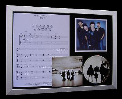 U2 Beautiful Day LTD NOD QUALITY CD FRAMED DISPLAY+EXPRESS GLOBAL SHIP!!