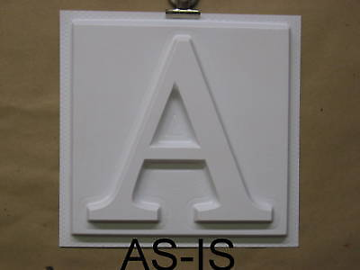 6 Tall 3d Plastic Sign Letters As-is Cut Or Mold It