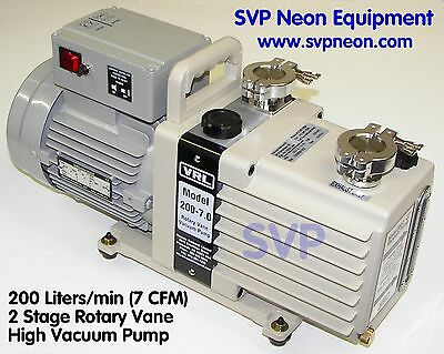 7 Cfm 200 Lmin 2 Stage Neon Sign Vacuum Pump Equipment Manifold Supply