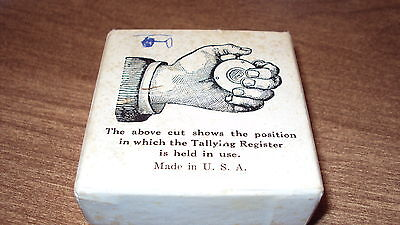 Old Railroad Passenger Train Tally TALLYING REGISTER Counter Marked usa  BOX
