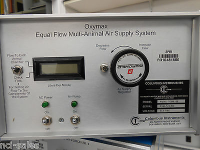 Columbus Instruments Oxymax Equal Flow Multi-animal Air Supply System Eqf-8r