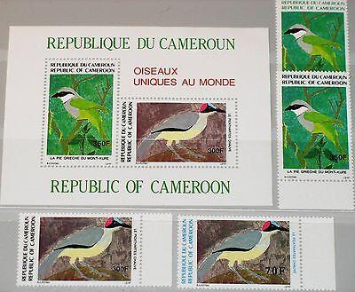CAMEROUN KAMERUN 1991 1177-80 Block 30 861-4a Vögel Birds Fauna Stelzenkrähe MNH