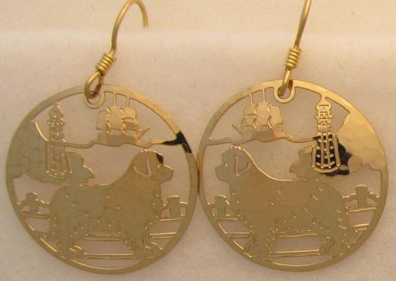 Newfoundland Jewelry Gold Dangle Earrings