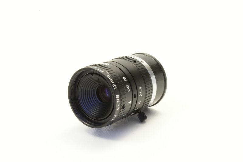 Dvt Cognex Lens Lmc-12f C-mount Moritex 12mm For Smart Cameras 1:1.4