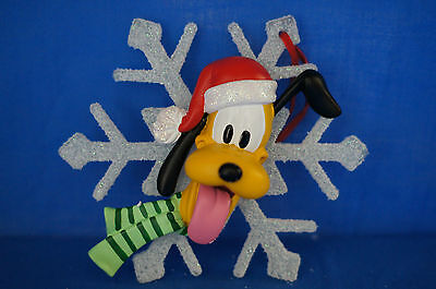 "Pluto Snowflake Large 5"" Resin Christmas Ornament Disney Retired"