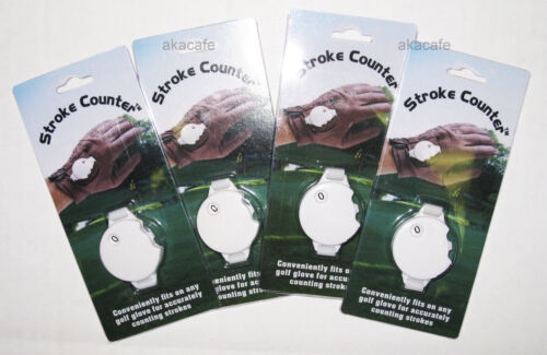 4 Qty. Brand New Golf Ball Stroke Score Counter - Fits Glove