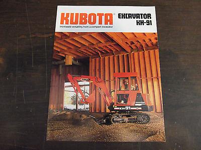 Kubota Kh-91 Compactmini Excavator Brochure 1989
