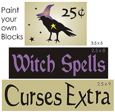 Stencil Witch Spells Curse Extra Primitive Crow Halloween Magic Star Sign Blocks - Witch Spells Halloween