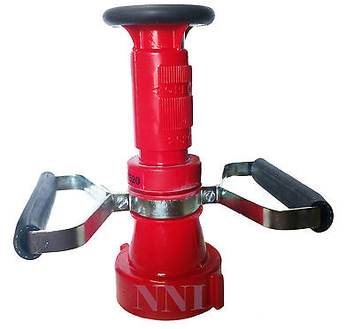 2-12 Nst Fire Hose Combination Fog Nozzle With Handles -150gpm