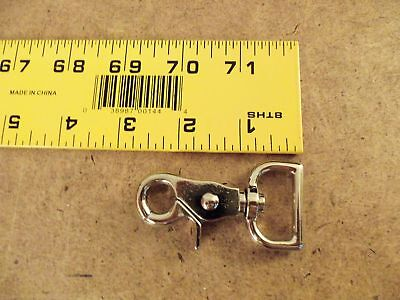 "1"" Nickel Plated Scissor Swivel Snap (Pack Of 5)"