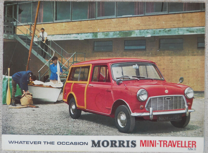 Morris Mini Traveller MkII 1967 colour fold out brochure