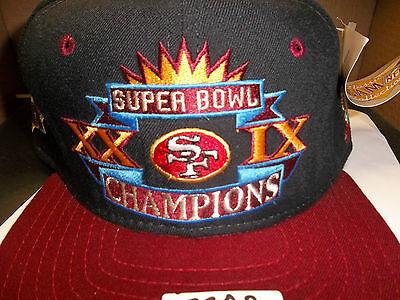 San Francisco 49ers NFL Super Bowl Champions New ERA Hat Snapback Cap Vtg  Retro dd699c25d