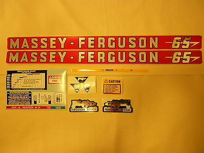 Massey Ferguson 65 Decal Set
