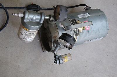 Gast Fisher Vacuum Pump Oilless 13 Hp Laboratory Lab Air Compressor