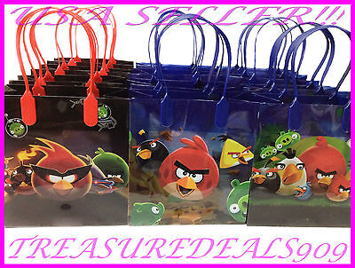 ANGRY BIRDS PARTY FAVOR BAGS *6 PCS* ROVIO GOODIE CANDY BIRTHDAY LOOT BAG SPACE](Angry Birds Party Favours)