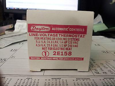 Dayton 2e158 Line Voltage Thermostat New In Box B65