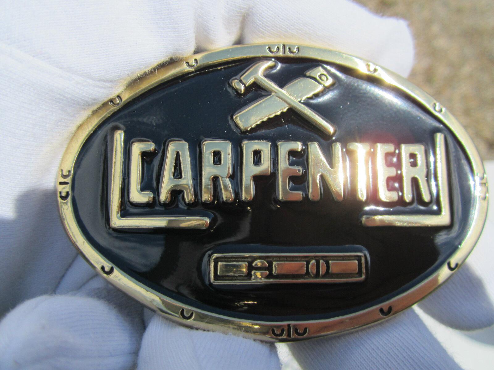 Carpenters belt buckle carpentry woodwork.
