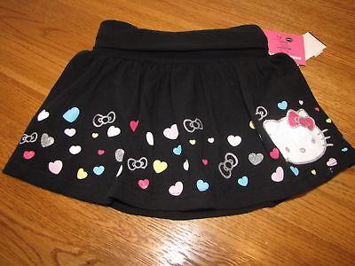 Mädchen Hello Kitty Sommerspass HK56339 Blk Skort 4 Nwt ^^