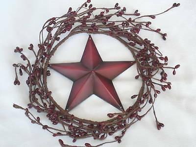 Mini Primitive Pip Berry & Tin Barn Star Wreath 5