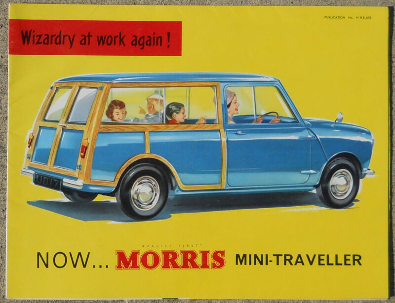 Morris Mini Traveller 1960 colour fold out brochure