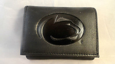 Penn State Nittany Lions Black Tri-Fold Leather Wallet
