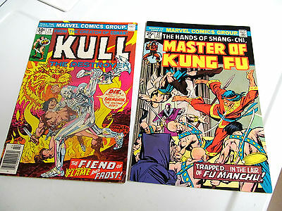 LOT 2* MARVEL COMICS *KUNG FU *1975 #27.V/G+.TO F/F*KULL*1976 #19. V/G+TO F/F