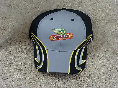 Dekalb Asgrow Adm Agrisure Monsanto Seed Corn Farm Racing Flare Fancy Hat Cap