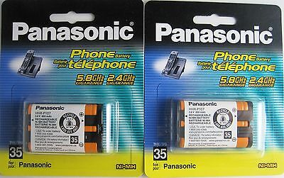 2  Genuine Panasonic HHRP107  Type 35  Cordless Phone  Battery HHR-P107A/1B