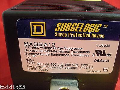 Square D Ma3ima12 Surgelogic Transient Voltage Surge Protector Suppressor 240v
