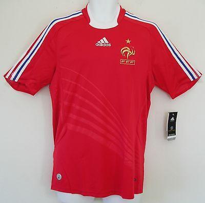 nwt~Adidas FRANCE EURO CUP 2008 Soccer Football shirt Jersey Maillot~Mens Sz~Med image
